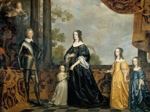 Gerrit Van Honthorst - Frederick Henry, Prince of Orange, with His Wife and Daughters