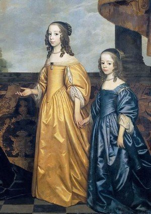 Gerrit Van Honthorst - Frederick Henry, Prince of Orange, with His Wife and Daughters [detail #1]