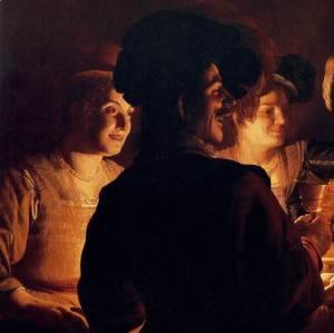 Gerrit Van Honthorst - Supper Party (detail)