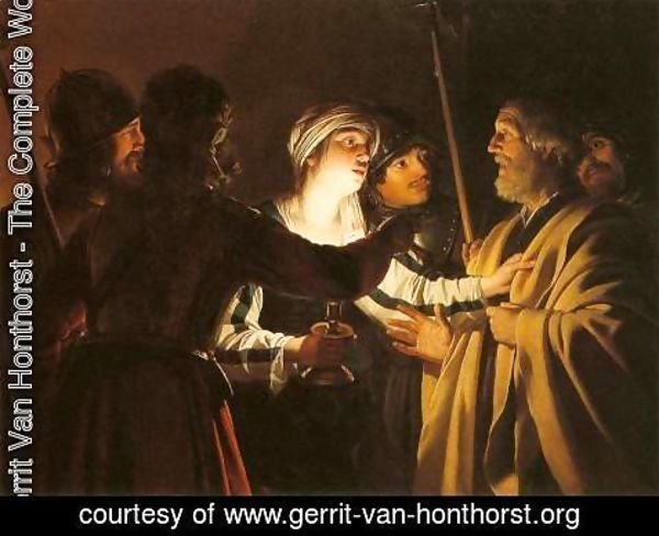 Gerrit Van Honthorst - The Denial of St Peter 2