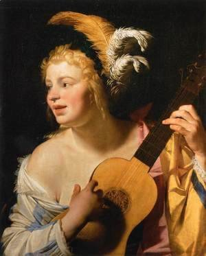 Woman Playing the Guitar