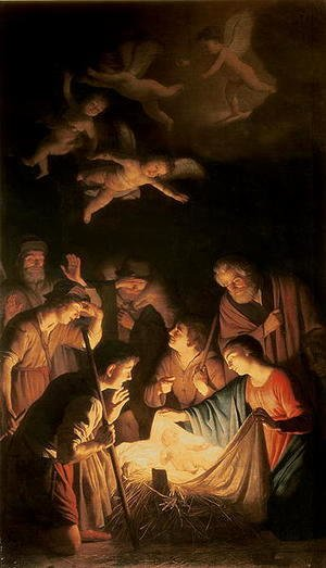 Gerrit Van Honthorst - Adoration of the Shepherds 1617