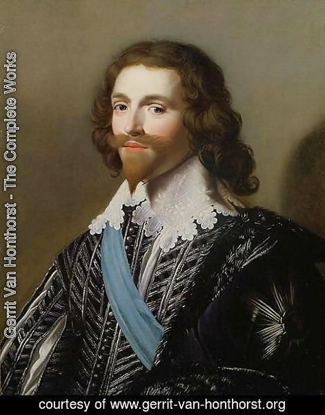 Gerrit Van Honthorst - Portrait of George Villiers 1st Duke of Buckingham