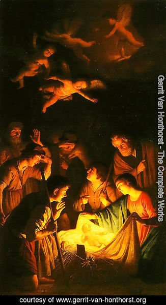 Gerrit Van Honthorst - The Adoration of the Shepherds