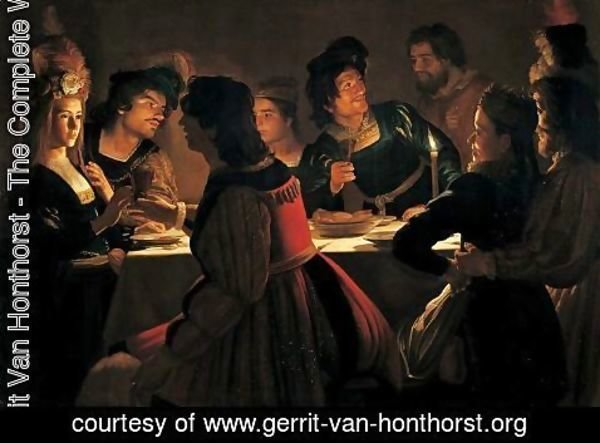 Gerrit Van Honthorst - The Wedding Supper