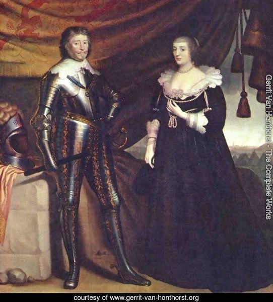 Prince Frederik Hendrik, and his wife Amalia van Solms