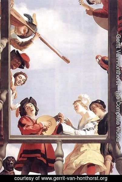 Gerrit Van Honthorst - Musical Group on a Balcony 1622