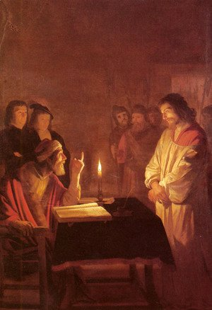 Gerrit Van Honthorst - Christ before the High Priest c. 1617