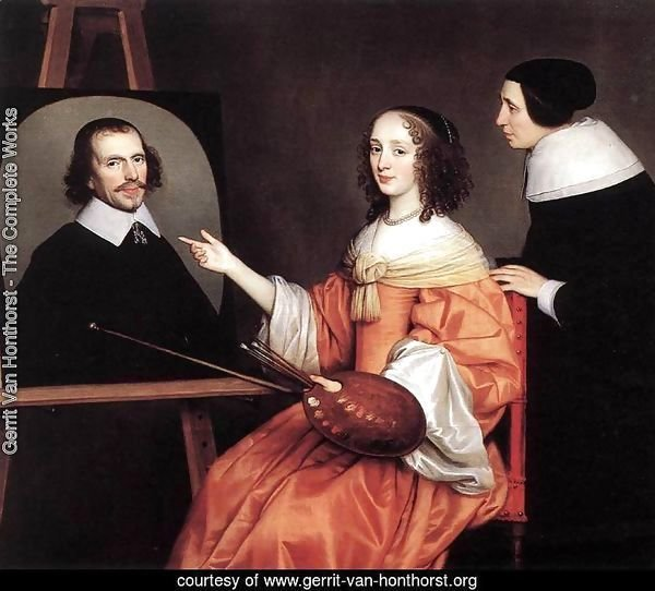 Margareta Maria de Roodere and Her Parents 1652